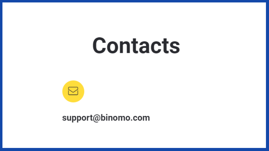 Binomo contacts for deposits assistance