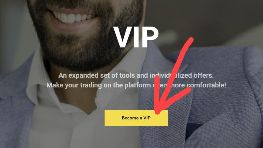Binomo - Vip account upgrade